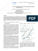 On River Bed Material Change Due to Flood on July 2009 in Saba River and Long Term River Bed Variation