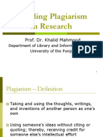 How to Avoid plagiarism in research
