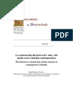La Construccion Discursiva Del Odio y Del Miedo en La Colombia Contemporanea