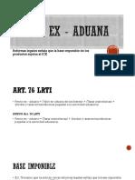 Precio Ex - Aduana