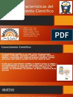 Características Del Conocimiento Científico Final