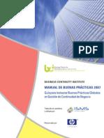 Buenas Practicas Continuidad Negocio 2007 BCI