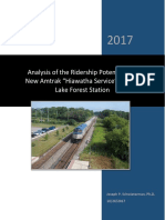 "Analysis of the Ridership Potential of a New Amtrak ""Hiawatha Service"" Stop at Lake Forest Station"