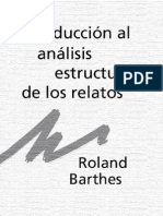 Roland Barthes Introduccion Al Analisis Estructural de Los Relatos