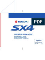 Suzuki Sx4 Sx4 Sedan Owners Manual 121535
