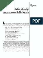 Fernando Villaln El Amigo Desconocido de Pablo Neruda 0