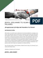 JESÚS_ ¡SÁLVAME! TU ALMA CORRE PELIGRO _ VIVACRISTOJESUS.com ®