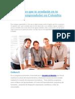 25 Entidades Que Te Ayudarán en Tu Carrera de Emprendedor en Colombia