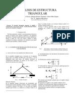Analisis de Estructura Triangular