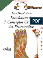 Juan David Nasio - Enseñanza de 7 Conceptos Cruciales del Psicoanalisis