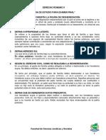 Guia de Derecho Romano II Examen Final