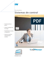 Intelligent Touch Manager ECPES13-302 Catalogues Spanish