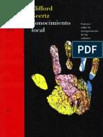 1 Geertz - Conocimiento local Ensayos sobre la interpretación de las culturas.pdf