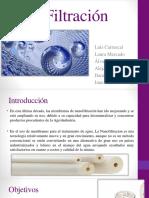 NanoFiltración Exp Proceso