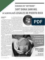 Microsoft dona $600 mil en software a Servicios Legales de Puerto Rico