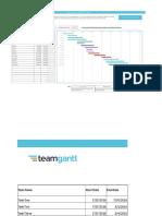 Project Plan - Gantt Chart