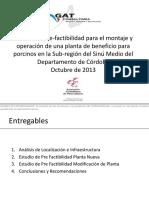 Estudio Prefactibilidad Montaje y Operacion Planta Beneficio Porcino