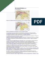 Evolucion del mapa de venezuela desde la conquista