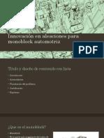 Innovación en Aleaciones Psra Monoblock Automotriz