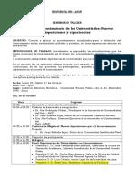Seminario Taller Procedimientos Para El Licenciamiento de Las Universidades-PROGRAMA FINAL2