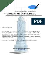 Carta Recomendacion Vane Latino Americana