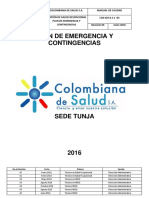 Plan de Emergencias Sede Tunja