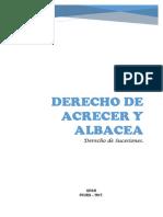 Derecho de Acrecer y Albacea