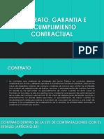Contrato, Garantia e Incumplimiento Contractual