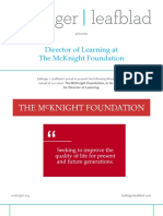 Position Profile - McKnight Foundation - Director of Learning