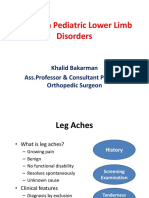 Common Pediatric Lower Limb Disorders