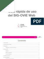 Guía rápida de uso del SIG-OVIE Web