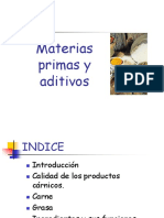 Materias Primas y Aditivos.
