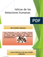 relaciones humanas caracteristicas