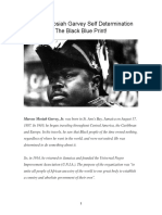 Marcus Mosiah Garvey Self Determination the Black Blue Print