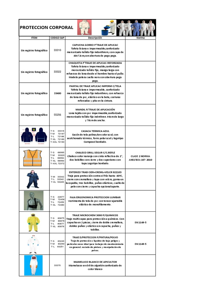 8.Catálogo de Epp -Protección corporal.pdf