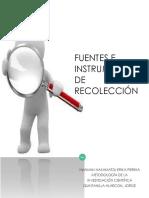 Fuentes e Instrumentos de Recolección 1