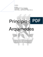 Relatório Princípio de Arquimedes
