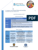 Programación Congreso Internacional Semiótica