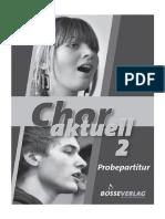 Chor Aktuell 2 Probepartitur