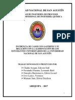 Incidencia de Casos Con Gastritis y Su Relación Con La Alimentación de Los Estudiantes Universitarios de La Universidad Nacional de San Agustín (1)