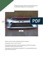 Perencanaan Dan Estimasi Banyaknya Bahan Yang Digunakan Pada Pengecatan Unit Panel Bumper Dan Unit Panel Pintu
