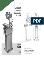 Arboga U2508 Parts Manual