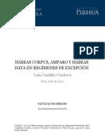 Amparo y Hábeas Data en Regímenes de Excepción