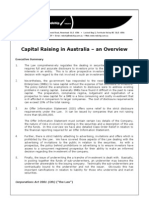 Capital Raising Process in Australia