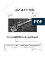 Apostila de Guitarra - Módulo Intermediario-Avançado
