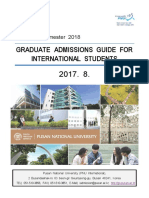 Spring Semester 2018 Graduate Admissions Guide for International Students