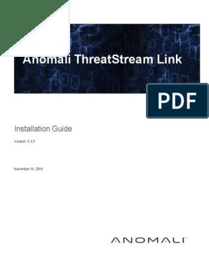 Anomali ThreatStream   Proxy Server   Installation (Computer