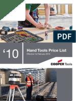 Cooper Tools Hand Tools Catalogue
