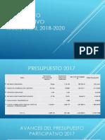 Presupuesto Participativo Multianual 2018-2020
