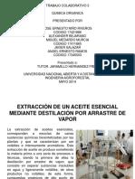 Practica No. 5 Extraccion de Un Aceite Esencial Mediante Destilacion Por Arrrastre de Vapor